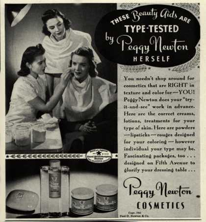 Paul D. Newton & Co.'s Various – These Beauty Aids Are Type-Tested by Peggy Newton Herself (1941)