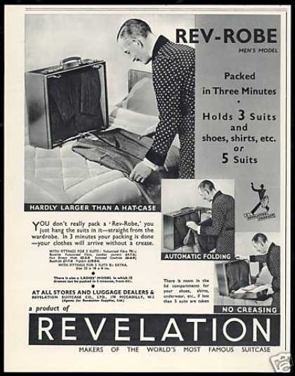 Revelation Suitcase Co Luggage Photo (1938)
