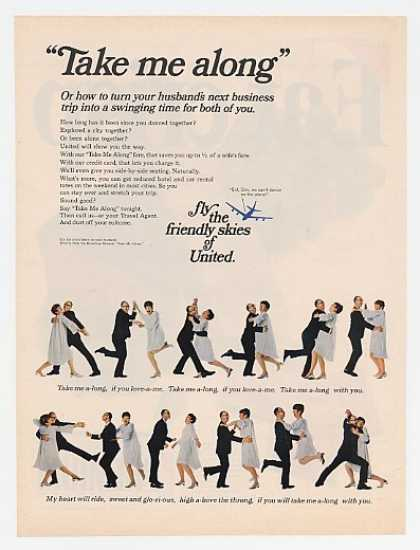 United Airlines Take Me Along Song & Dance (1967)