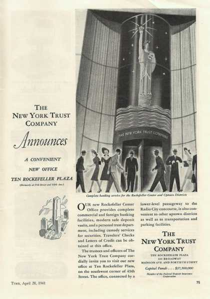 New York Trust Co Rockefelle (1941)