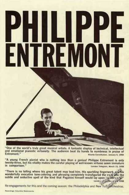 Philippe Entremont Photo Pianist Trade (1959)