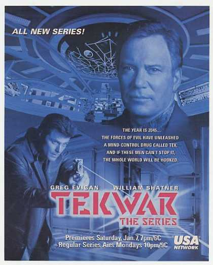William Shatner TekWar Premiere USA Network (1995)