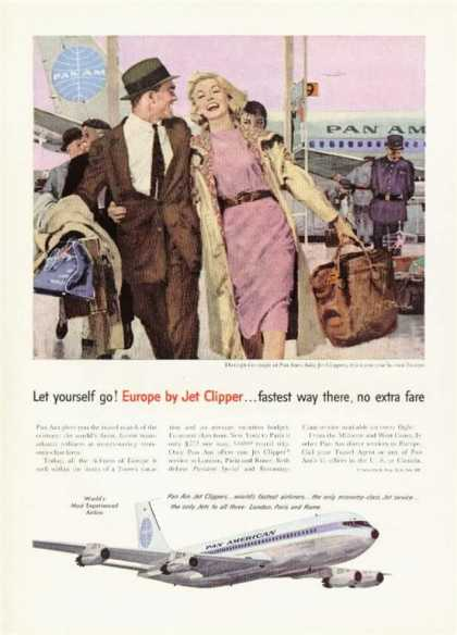 Pan Am Europe By Jet Clipper Airline (1959)
