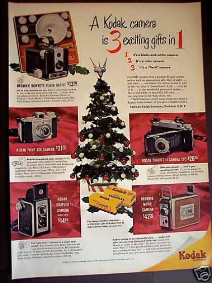 Kodak Cameras for Christmas Holiday (1952)