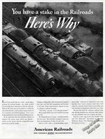 You Have a Stake In the Railroads Here's Why (1947)