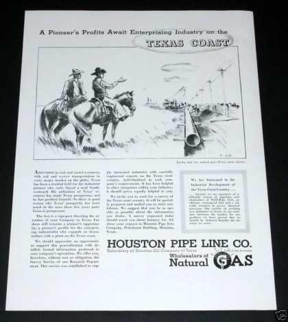 Old , Houston Pipe Line, Texas Gas (1939)