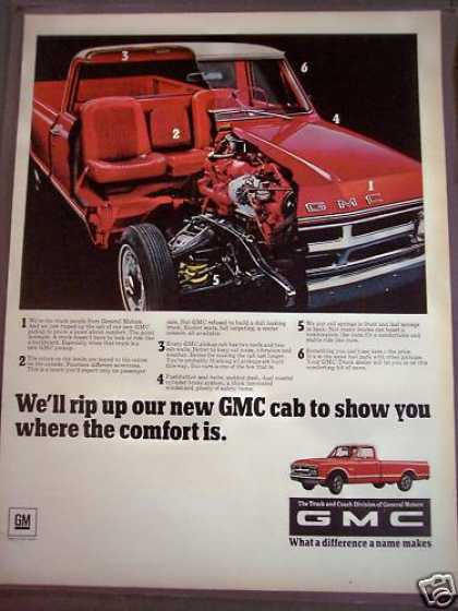 Classic Gmc Red Pickup Truck (1968)