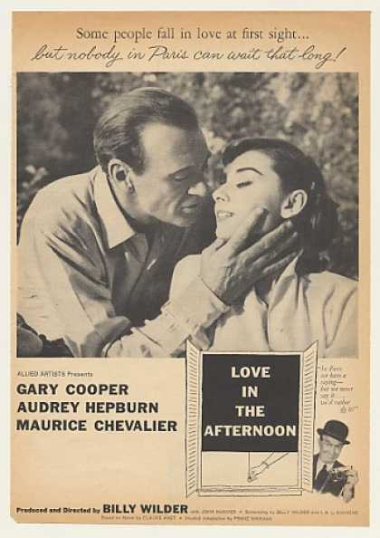 '57 Gary Cooper Audrey Hepburn Love In The Afternoon (1957)