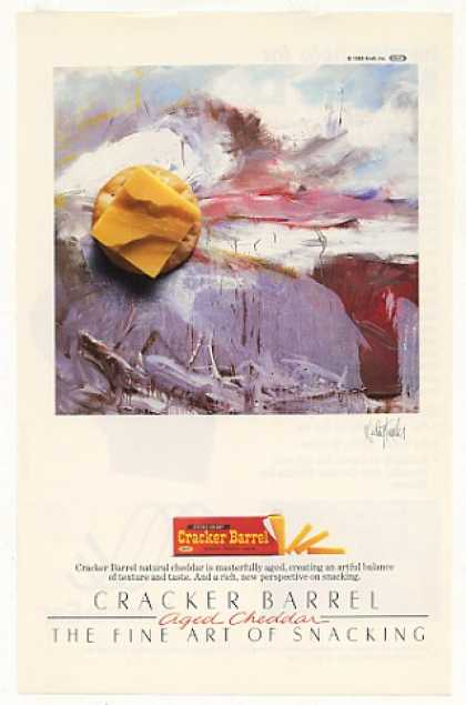Cracker Barrel Cheddar Cheese Wesley Kimler art (1985)