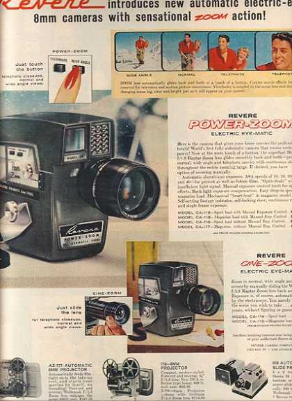 Revere's 8 mm cameras with sensational (1959)