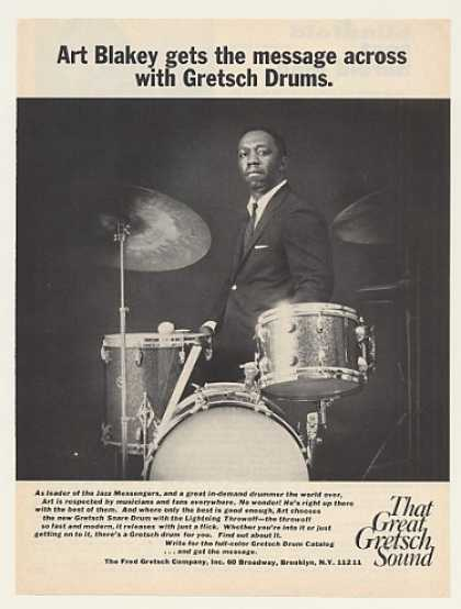Art Blakey Gretsch Drums Photo (1971)