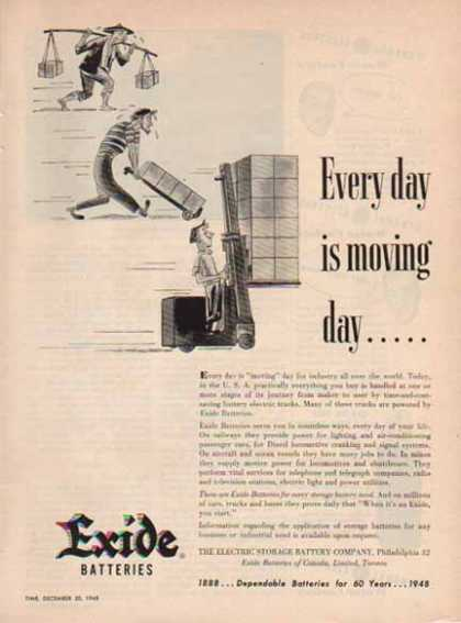 Excide Battery – Electric Storage Battery Co. Philadelphia (1948)