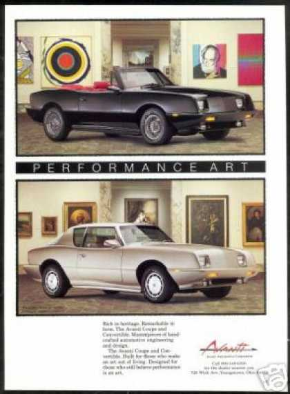 Avanti Coupe & Convertible Vintage Photo Car (1989)
