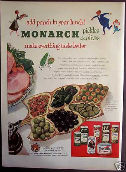 Original Monarch Pickles & Olives (1952)