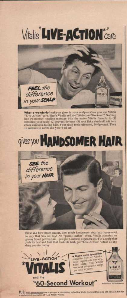 Vitalis Live Action Handsomer Hair Print A (1949)