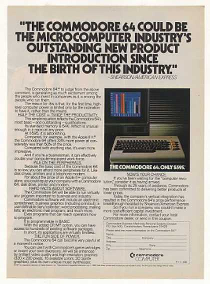 Commodore 64 Personal Computer Only $595 (1982)