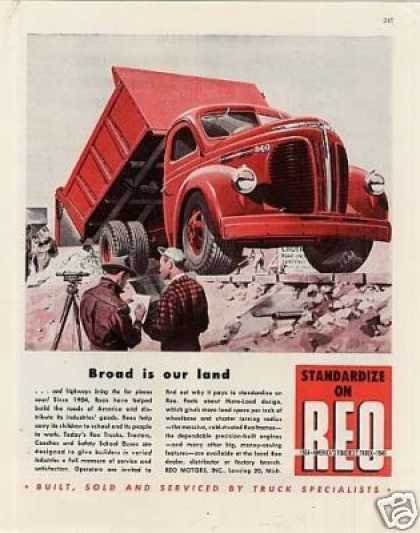"Reo Truck Ad ""Broad Is Our Land... (1947)"