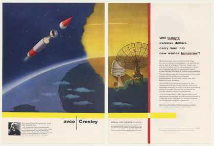 Avco Crosley Satellite Rocket Soltesz art (1957)