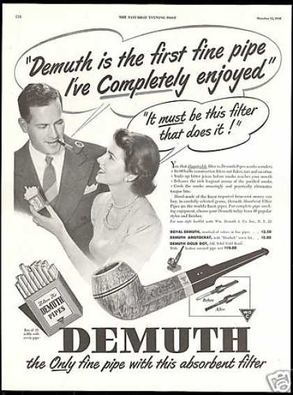 Demuth Tobacco Pipe & Filters Photo (1949)