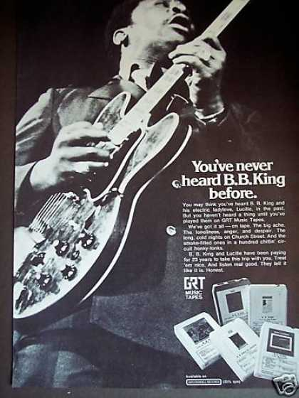 B. B. King Photo Gtr 8 Track Music Tapes (1972)
