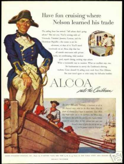 Horatio Nelson English Navy ALCOA Steamship Co (1950)