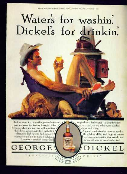 George Dickel Tennesse Sour Mash Whisky C (1982)