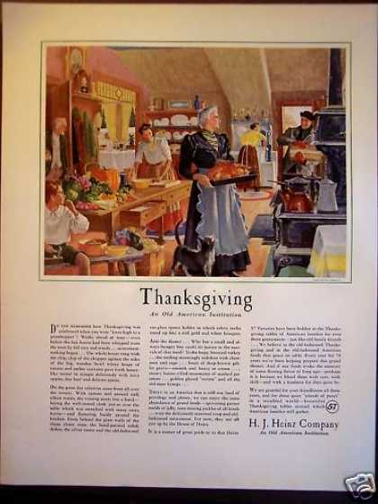 H. J. Heinz Co. Thanksgiving Food (1940)
