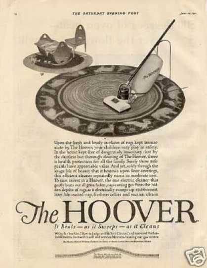Hoover Vacuum Cleaner (1921)