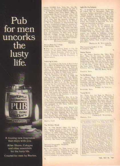 Revlon PUB Cologne For Men (1967)