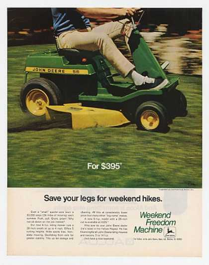 John Deere 56 Riding Lawn Mower Save Your Legs (1970)