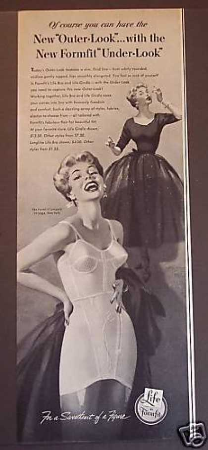 Formfit's Life Bra and Life Girdle (1953)
