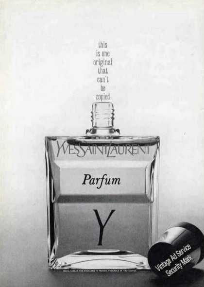 "Yves Saint Laurent Parfum ""Can't Be Copied"" (1967)"