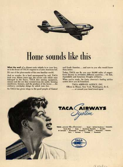 TACA Airways System – Home sounds like this (1946)