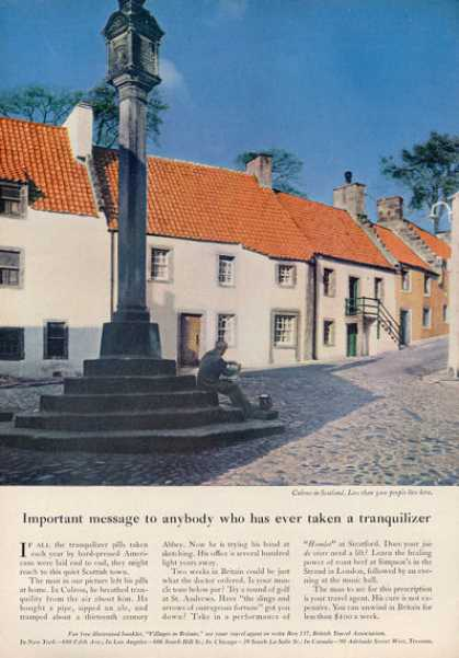 British Travel Ad England Culross In Scotland (1962)