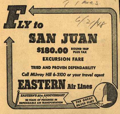 Eastern Air Line's San Juan – Fly to San Juan (1948)