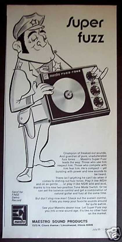 Maestro Super Fuzz Tone Guitar Effects (1972)