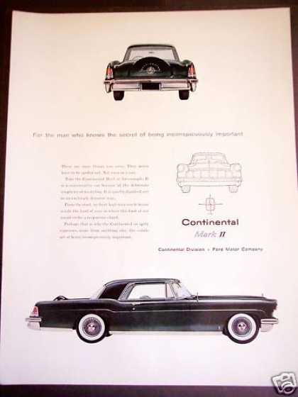 Ford Continental Mark Ii Car Automobile (1956)