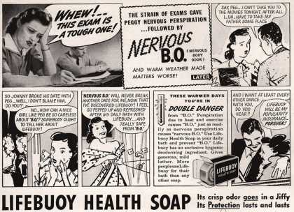 Lever Brothers Company's Lifebuoy Health Soap – Whew! This Exam Is A Tough One (1940)