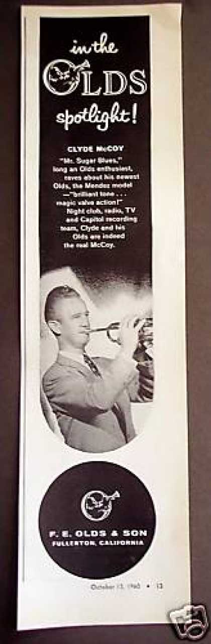 Clyde Mccoy Photo F. E. Olds Trumpet (1960)
