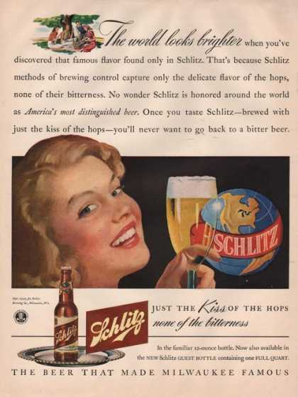 Kiss of the Hops Schlitz Beer (1942)