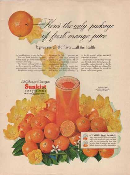 Sunkist Best for Orange Juice (1949)