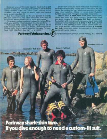 Parkway Scuba Diver Women Men 5 Models Wet Suit (1973)