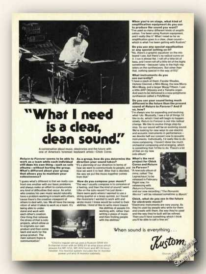 Chick Corea Photos & Article Kustom Electronics (1976)