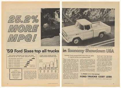 Ford Styleside Pickup Truck Economy Showdown 2P (1959)