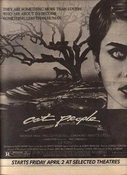 Cat People (Nastassia Kinskui and Malcolm McDowell) (1982)