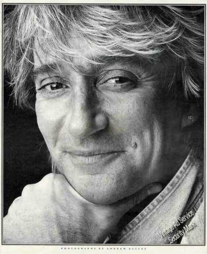 Rod Stewart Magazine Photo By Andrew Eccles (1991)
