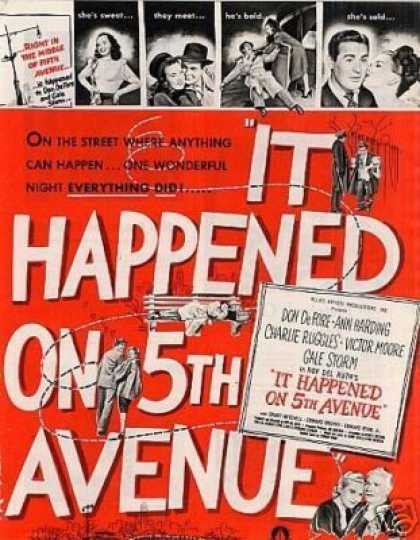 "Movie Ad ""It Happened On 5th Avenue"" (1947)"