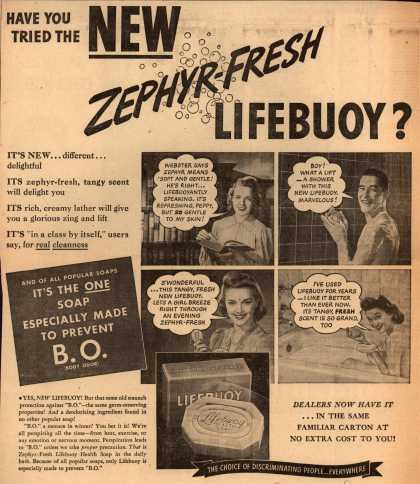 Lever Brothers Ltd.'s Zephyr-Fresh Lifebuoy Health Soap – Have You Tried the New Zephyr-Fresh Lifebuoy (1941)