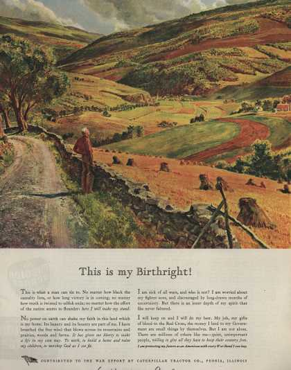 Caterpillar Tractor Co.'s War Bonds – This Is My Birthright (1944)