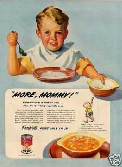 "Campbell's Vegetable Soup Ad ""More Mommy!"" (1945)"
